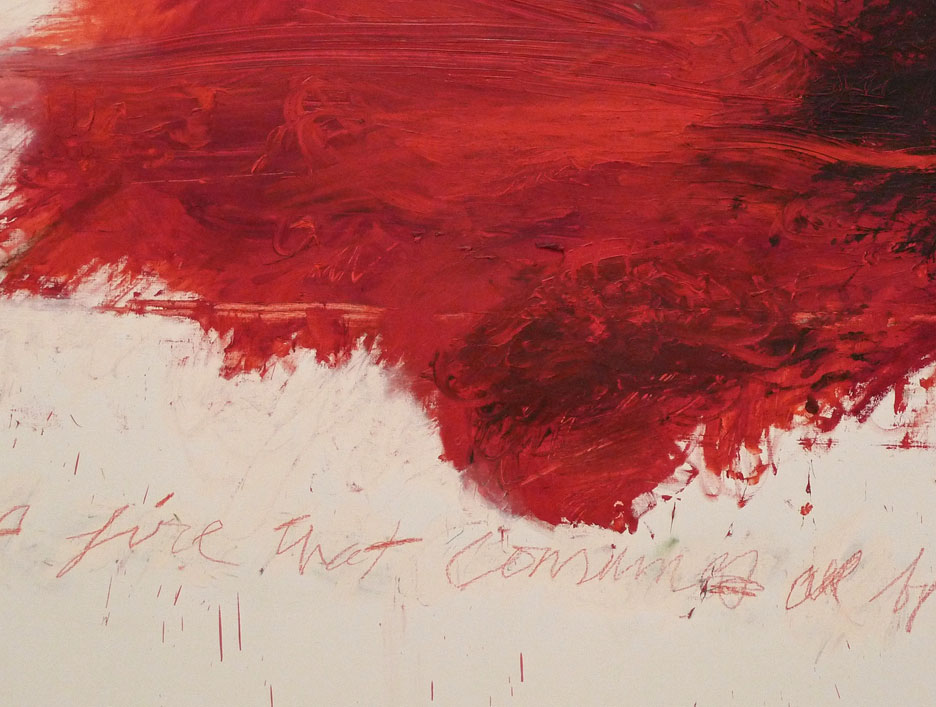 Detail from Cy Twombly's Fifty Days at Illiam: The Fire that Consumes All Before It,