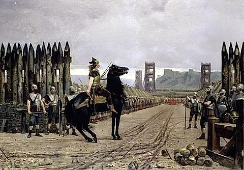 Vercingetorix Surrendering to Caesar by Henri-Paul Motte 1886